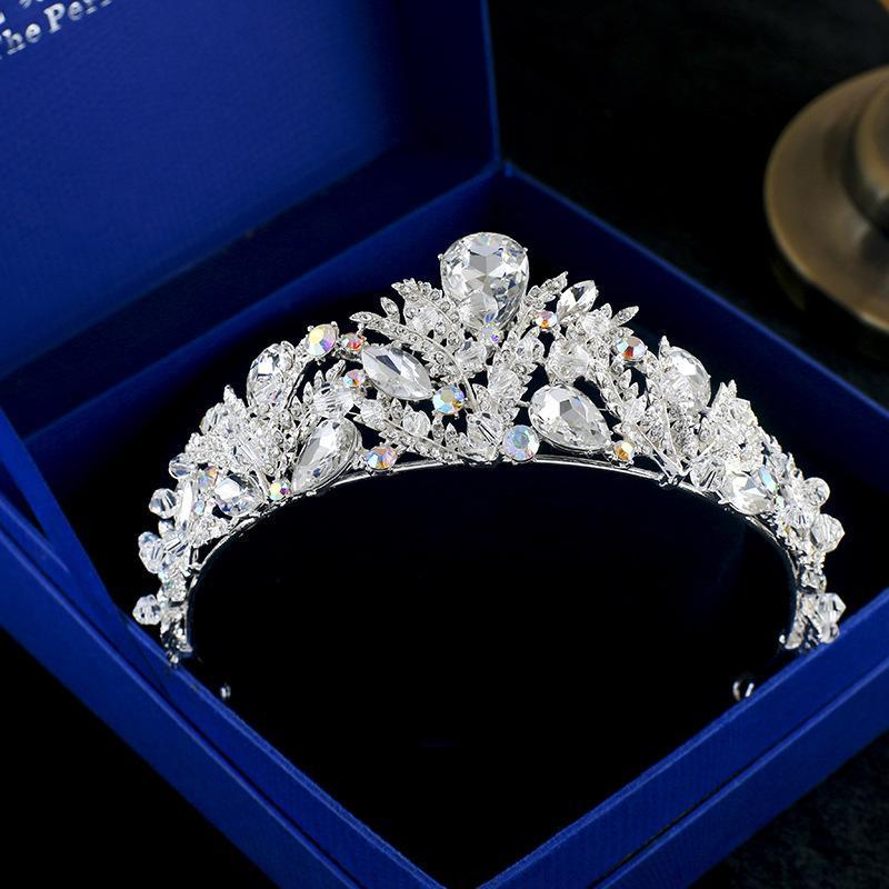 Coreano headwear nupcial coroa artesanal contas de pérolas de cristal faixa de cabelo casamento coroa ornamento cabeça enfeite de cabelo.