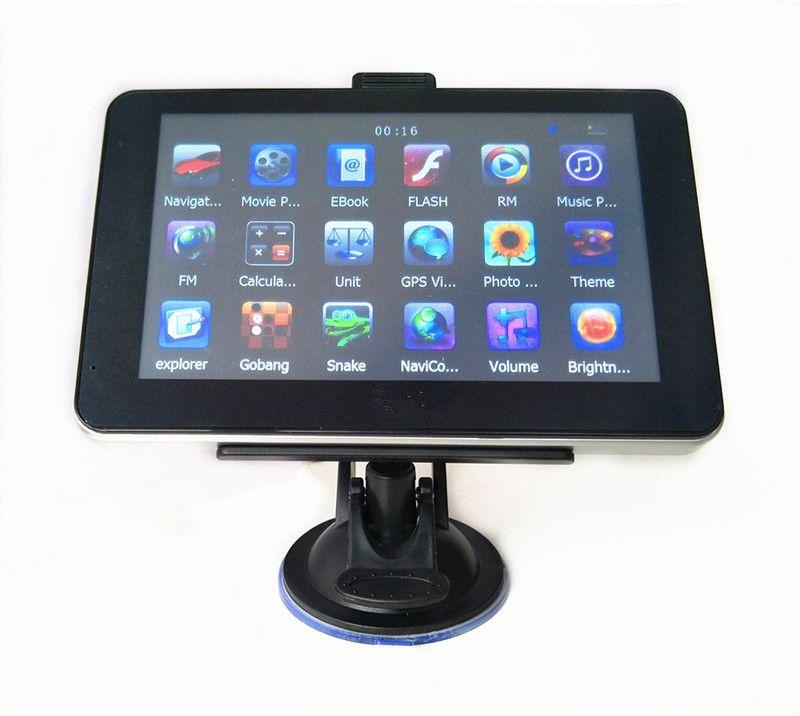 Navegação do carro de 7 polegadas GPS com o navegador do avoirdupois de Bluetooth DDR256MB + 4GB 8GB MTK ganham o CE multilingue livre multilingue