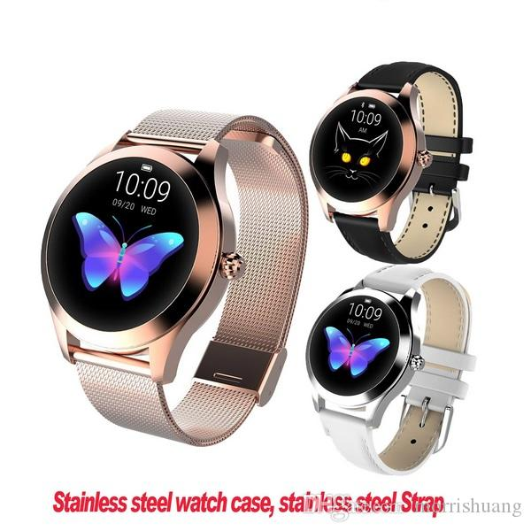 KW10 Smart Watch Fashion Smart Bracelet For Women IP68 Waterproof Heart Rate Sleep Monitor Fitness Tracker For Android Phone