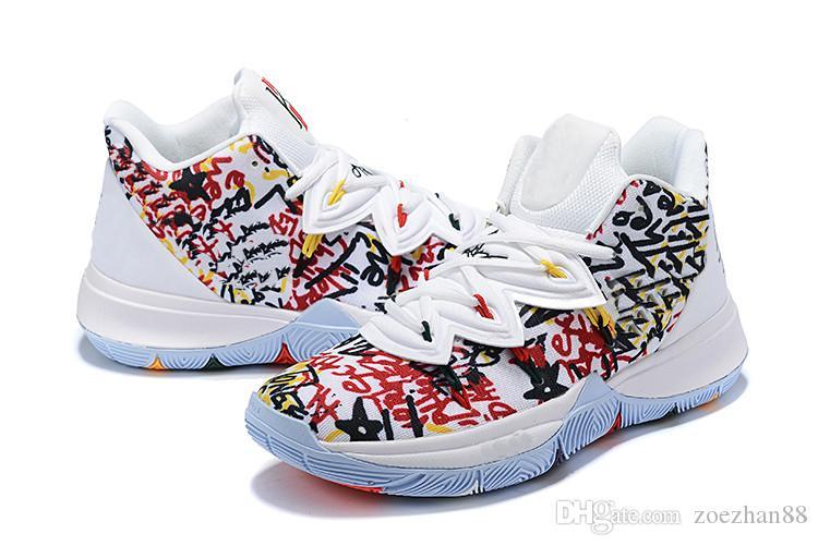 Nouvelle arrivée Hommes Kyrie 5 SPSB Chaussures de basket-ball Chaussures Concepts x Clownfish Irving 5s Garçons luxe trainning Chaussures de sport avec la boîte Taille 40-46