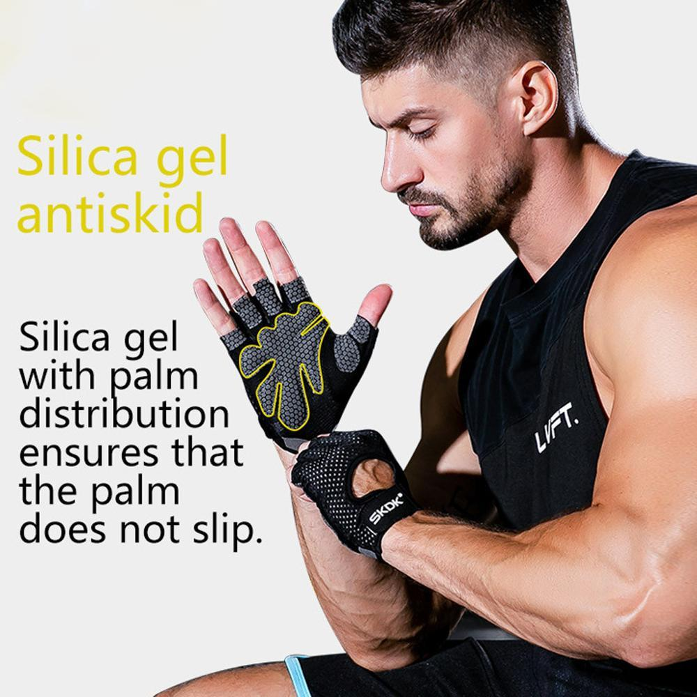 Fitness Glove Gym Full Palm Protection for Fitness weightlift Cycling Yoga Training Breathable Fingerless gloves Men Women