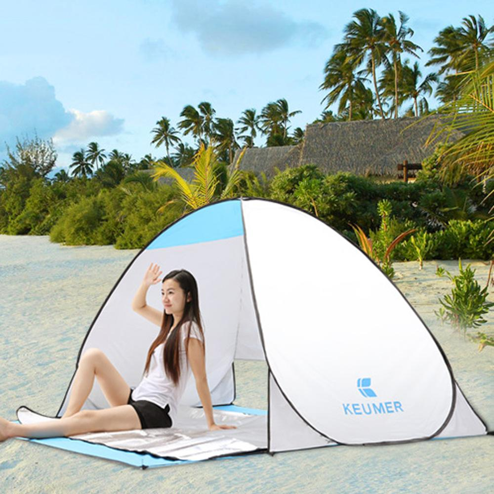 Quick automatic camping tent UV-protection pop up beach tent Waterproof for outdoor recreation tourist fishing Tents