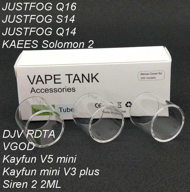 120pcs Original Replacement Pyrex Glass Tube For DJV RDTA/Kayfun mini V3 PLUS/KAEES Solomon 2/VGOD/kayfun v5 mini Tank Atomizer