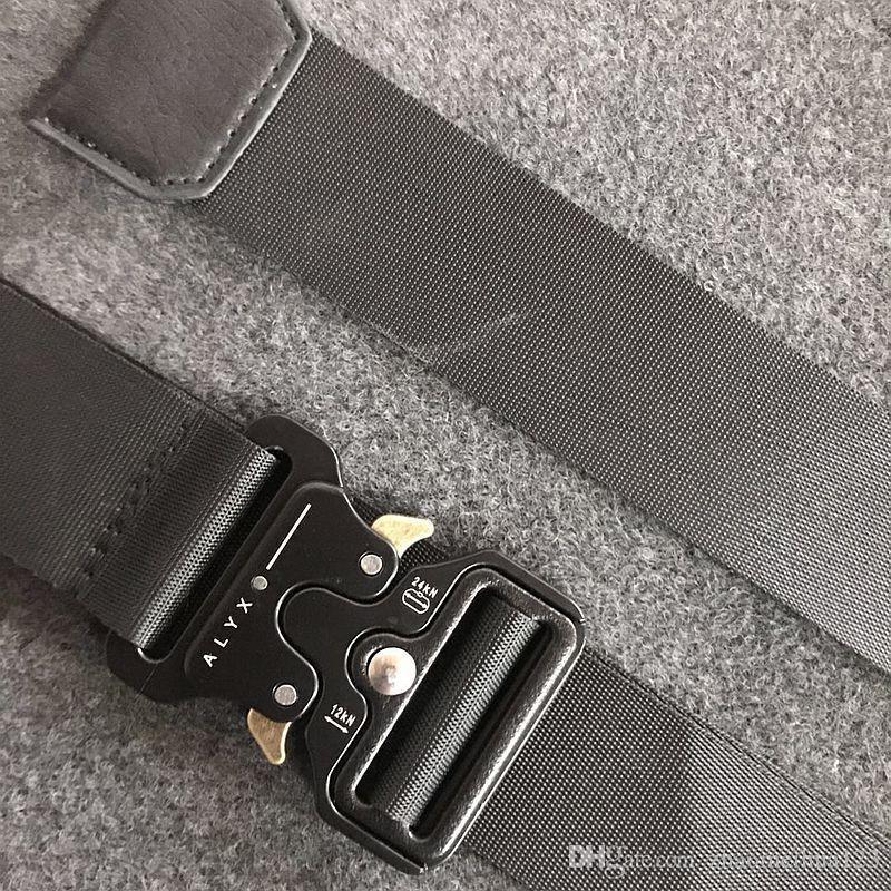 ALYX حزام العلامة التجارية الرجال العسكرية في الهواء الطلق متعددة الوظائف التدريب عالية الجودة الشريط ceintures هوب البوب رجال خارج الحزام OW