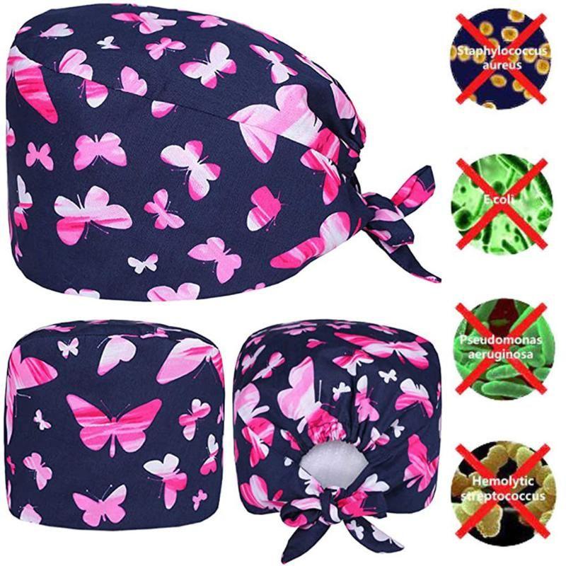 Mulheres e homens Cotton Bandage Cap Scrub ajustável Tafilete Bouffant Hat Gorro Enfermera quirófano 2020 de Moda de Nova # T1P