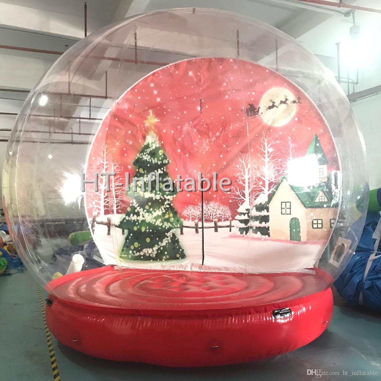 الشحن مجانا مصنع عالية الجودة حسب الطلب هالوين / عيد الميلاد الديكور العملاق نفخ سنو غلوب الإنسان 4M ضياء للبيع