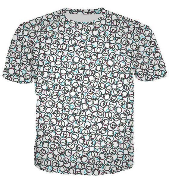 Il nuovo modo Mens / Womans Psychedelic camicia estate di stile unisex divertente 3D stampa casuale T-Shirt Top Formato più T0179