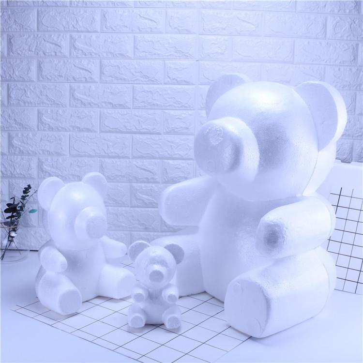 ارتفع PE النمذجة رغوة البوليسترين الدب أرنب الكلب لحواسيب زهرة رئيس الدب الحرفية لليوم هدية عيد الحب