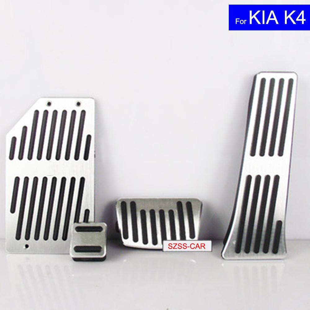 Coche de gasolina de aleación de aluminio del embrague de combustible pastillas de freno Pedales Resto Placa para Kia K2 K4 S Auto Pedales envío