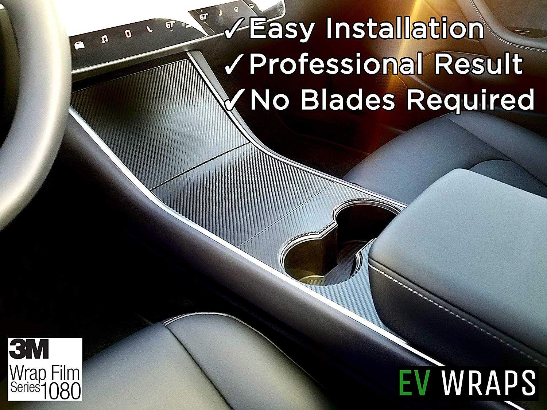 EV 랩 테슬라 모델 3 센터 콘솔 랩 - 탄소 섬유
