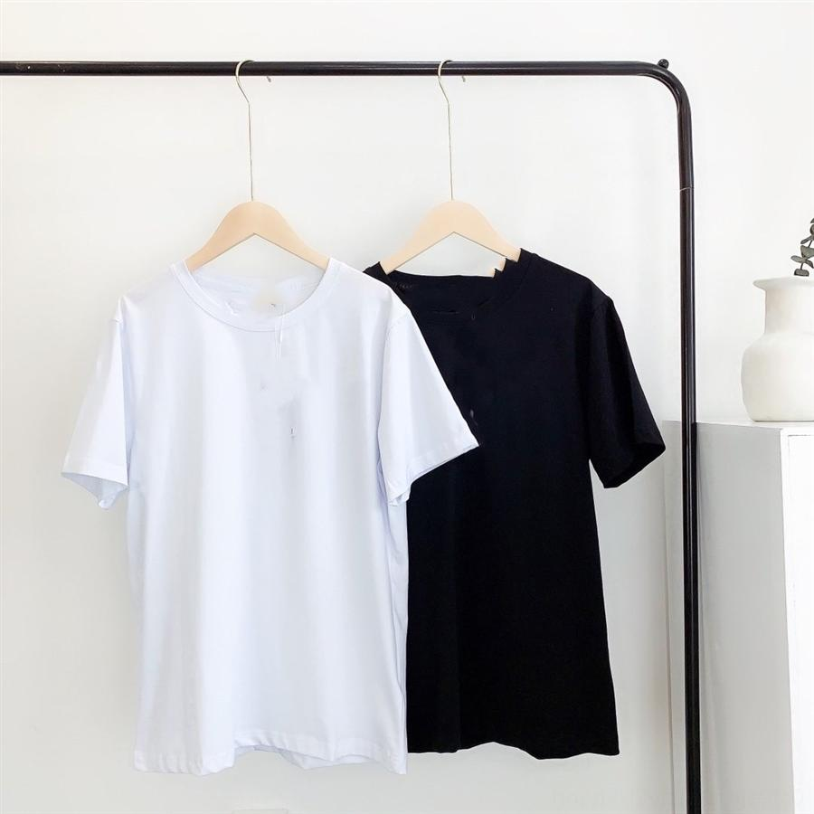 050905 breast music letter small standard solid color round collar couple short-sleeved T-shirt ks 050905 breast music letter small standard