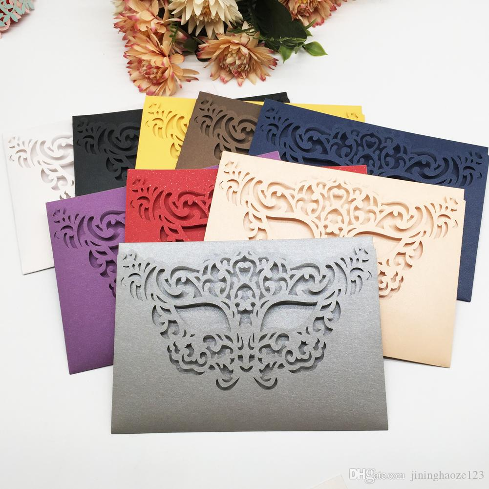 Laser Cut Pearl Paper Mask Wedding Invitation Card Marriage ...