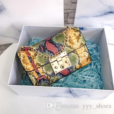 Fashion women Serpentine Bags Shoulder Bag luxury high quality Cross Body Flap handbags Clutch bag totes with lock