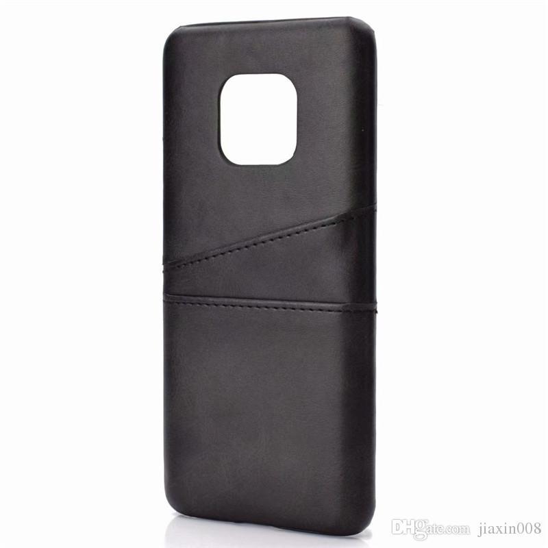 Huawei Mate 20 Pro Için PU Deri Coque Vaka Lüks Arka Kapak Kart Sahibinin Cep Telefonu Kılıfları