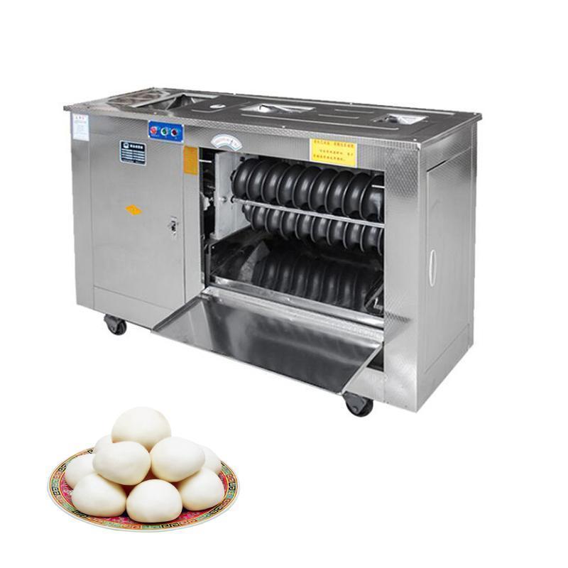 Commercial en acier inoxydable pain cuit à la vapeur Machine de fabrication électrique pâte sphérique machine automatique de pain cuit à la vapeur Formant Machine220V