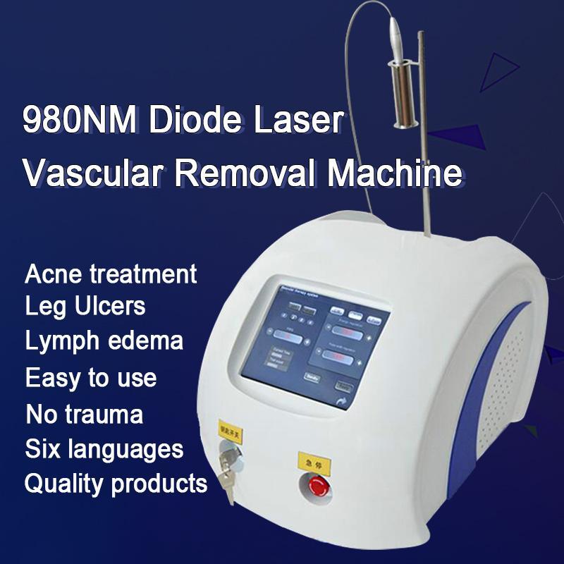 صالون تجميل / الأوعية الدموية / الأوردة / عروق العنكبوت إزالة المعدات 980nm الليزر الوريد إزالة آلة إزالة أفضل 980nm ديود ليزر الأوعية الدموية