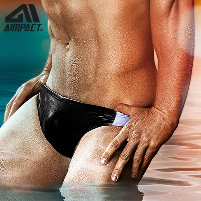 포켓 서핑 수영복 AIMPACT 팬티와 남성 수영복 섹시에 대한 남성 수영 팬티 저층 비키니 수영복