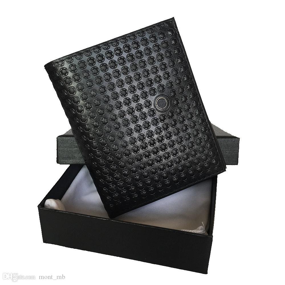Portavolo in pelle Business Business Black Black Tasket Pocket Portafoglio Carta di credito Regalo Designer Party ID Holder Top Portafoglio Boxed Judqa