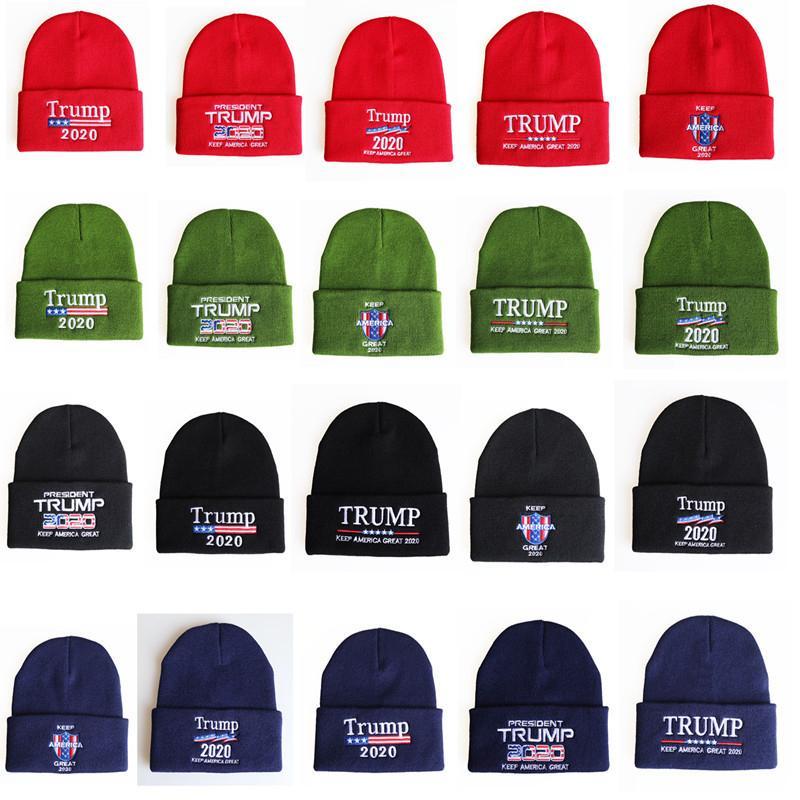 Desing Trums вязаные вышивка шляпы зимний американский флаг джемпер хип-хоп вязание крючком шляпу вязаные шапки ушные муфты теплые шляпы шапочки 20 цветов продажа