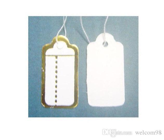 500 шт. / Лот Бумажные этикетки Price Tags Карта для украшений Подарочная упаковка Дисплей 13MMX26MM LA05