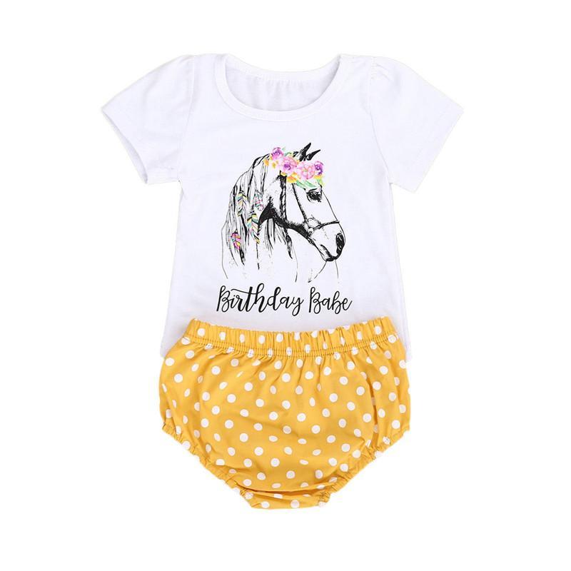 New Fashion Baby Boy layette Cartoon Tops manches courtes Sets T-shirt + Dot impression Shorts 2PCS enfants mignons Tenues Set 2-6T