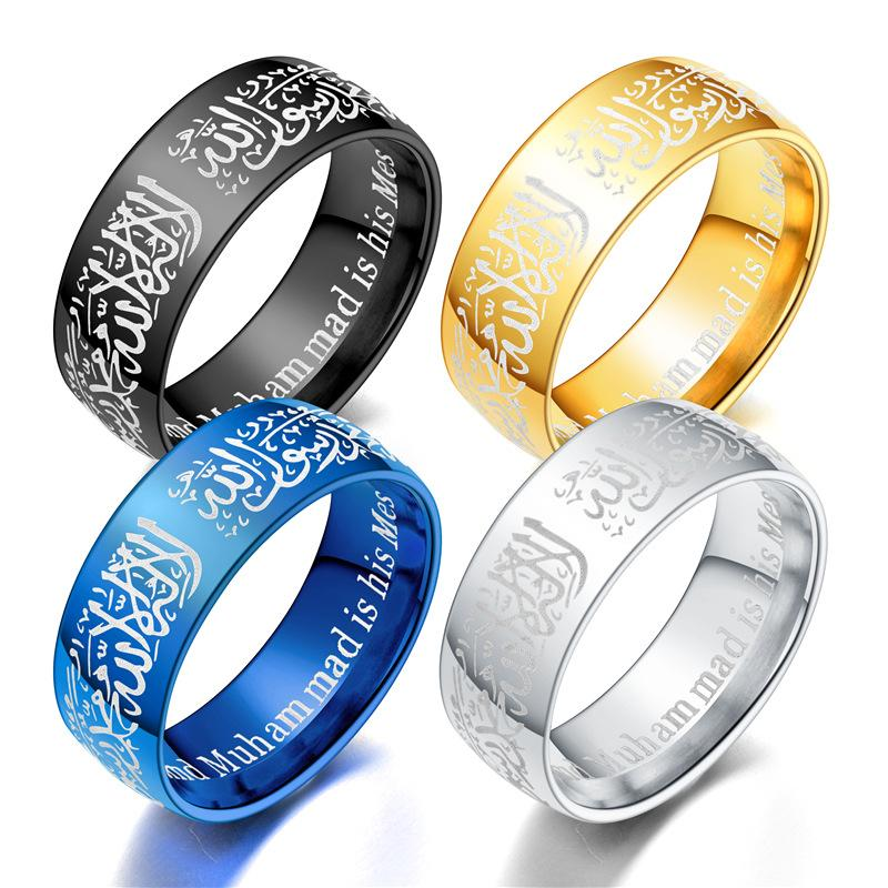 Titanium steel ring 4 various colors new product listing wholesale custom couple ring silver gold ring