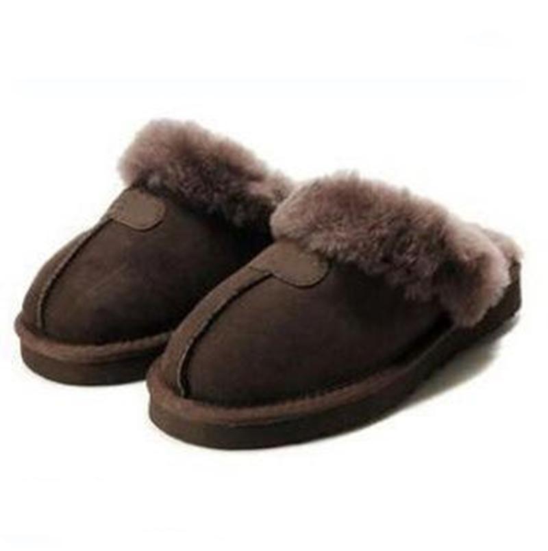 WGG gli uomini e le donne pantofole in bianco e nero marrone colore rosa di inverno design di lusso della pelliccia coperta signore di marca calde pantofole Eur 36-41