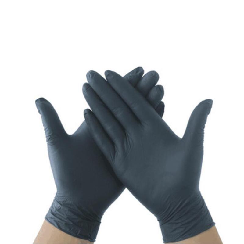 100pcs / lot à usage unique Gants nitrile Gants en latex Gants de nettoyage de jardin Ménage Nettoyage domestique en caoutchouc Preuve Mitten ROSE bleu