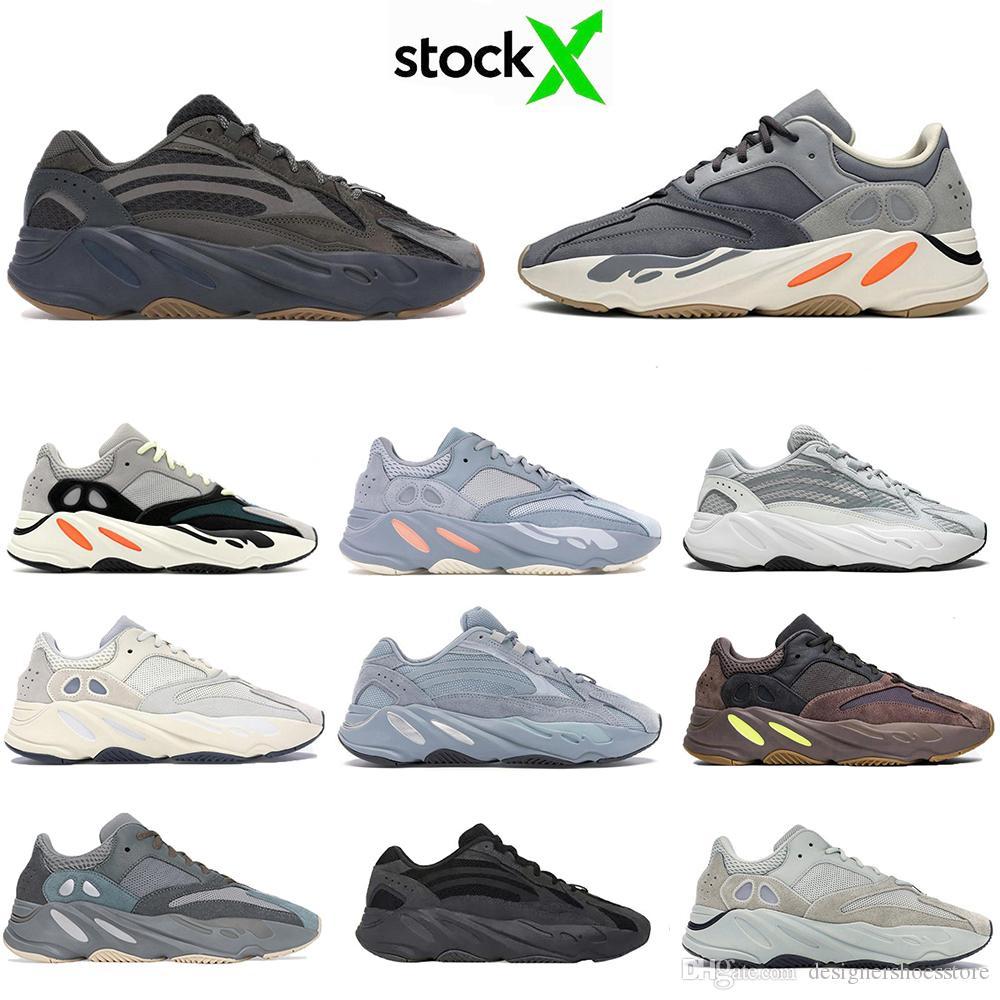 HOTSALE Kanye West Mıknatıs 700V2 Atalet Dalga Runner Vanta Statik TEAL MAVİ Leylak Erkekler Kadınlar Hastanesi mavi Spor Sneakers Ayakkabı Koşu