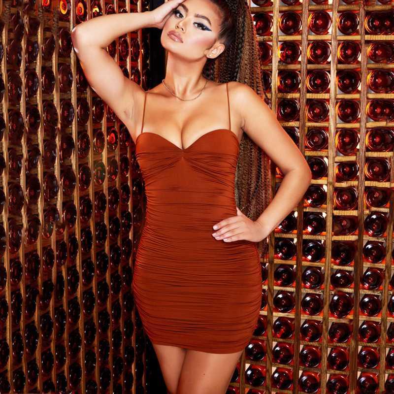 NewAsia Garden doppi strati sexy sottile mini vestito senza maniche increspato Vestito aderente donna Party Night Club Abiti corti Vestido