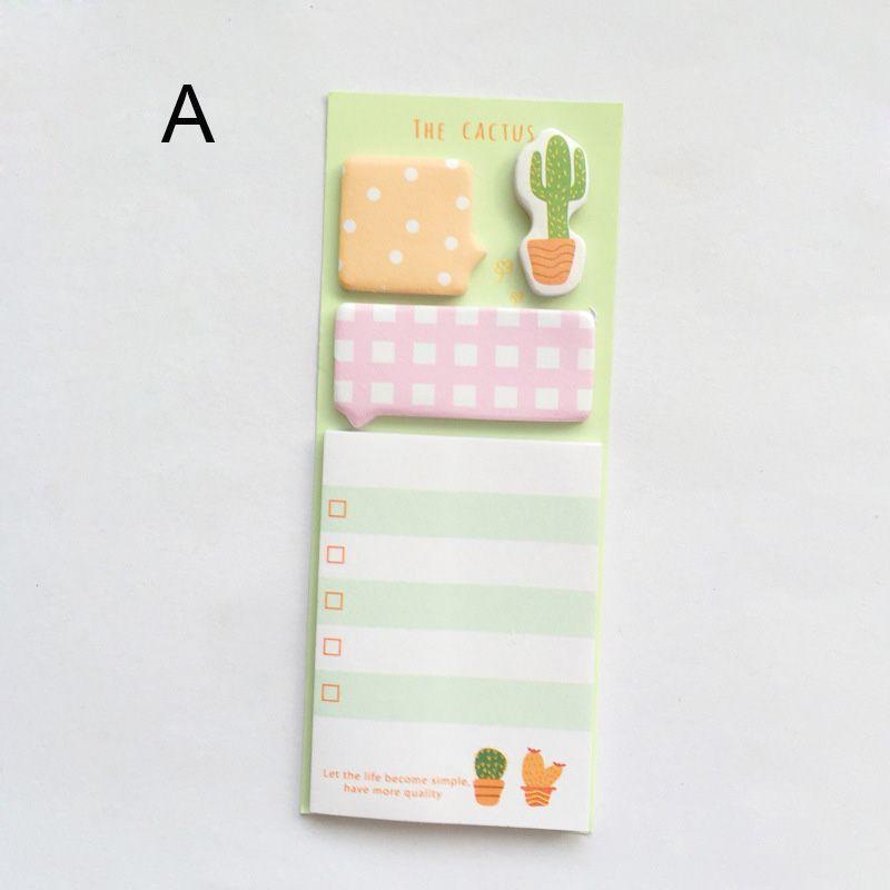 The Cactus Notes Mini Portable Creative Vier Stücke Vier Stile sind erhältlich Tägliche Memos Geschenkbox