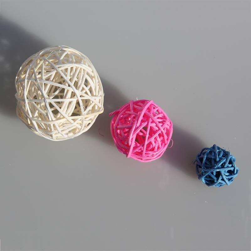 15CM colore della miscela Pendente decorazione scuola materna scuola rattan naturale decorazione di materiali da sposa Ball canna sepatakraw palla