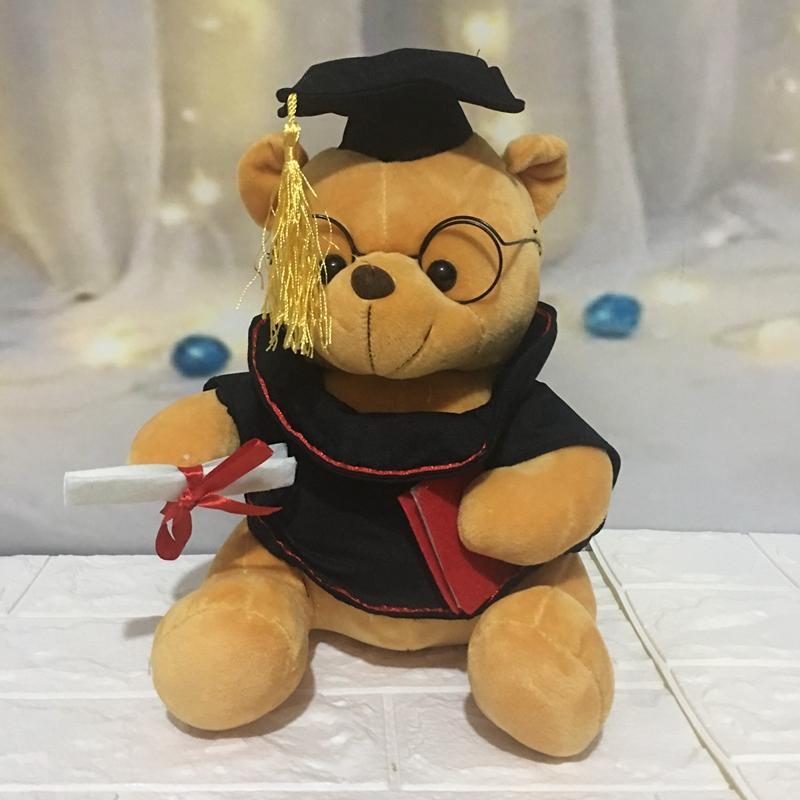 1pc 18 centímetros bonito da graduação Dr. urso de pelúcia brinquedo de pelúcia Teddy animal brinquedos urso por caçoa o presente engraçado da graduação para crianças Home Decor