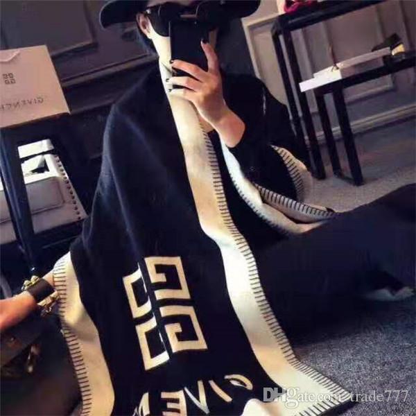 Moda 2019 mujeres del modelo carta Marca bufanda de seda de diseño de invierno de lana bufanda bufanda caliente del mantón de las señoras