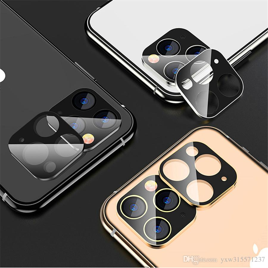 For IPhone 11 11Pro 11 Pro Max Metal Back Camera Lens Tempered Glass Screen Protector Camera Protector