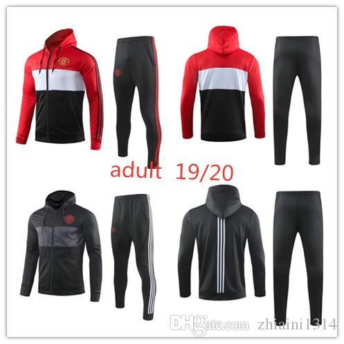 19 20 adult manchester training Hat clip suit men Lukaku RASHFORD football jacket sportswear blue foot jogging 19 20 POGBA United Soccer T