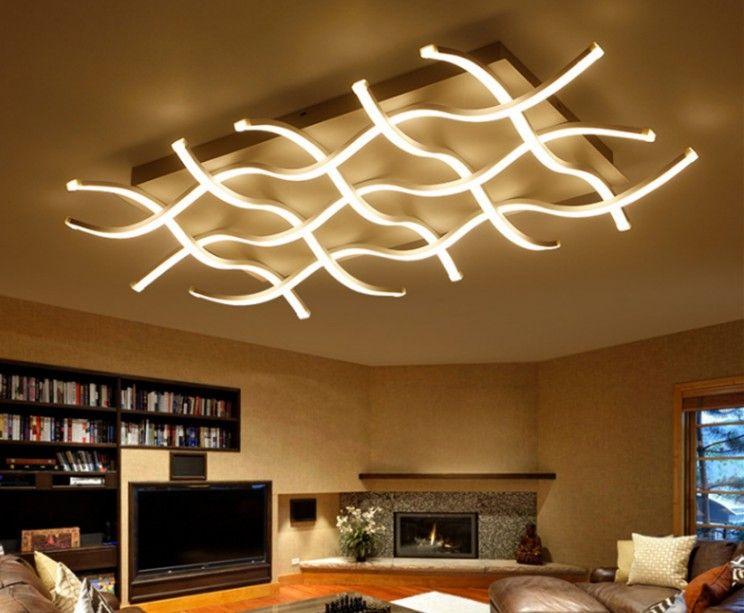 Plafoniere moderne principali acriliche rettangolari per la camera da letto di soggiorno lamparas de techo lampada quadrata principale colgante della lampada del soffitto di LLFA
