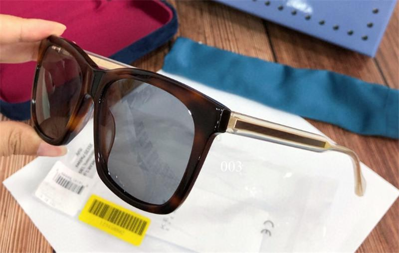 Nuevo retro de los vidrios de la moda del diseñador de gafas de sol de marco cuadrado 0558 sencilla UV de alta calidad de estilo atmósfera 400 gafas al aire libre