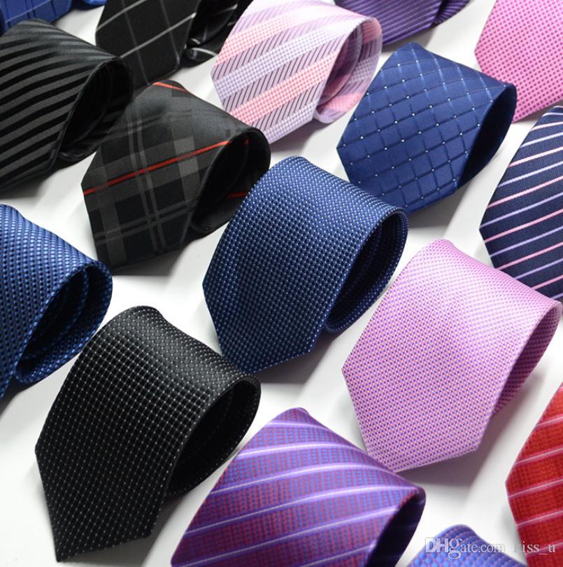 جديد العلاقات الرسمية للرجال كلاسيكي البوليستر المنسوجة منقوشة النقاط حزب ربطة العنق الأزياء سليم الزفاف الأعمال الذكور عارضة