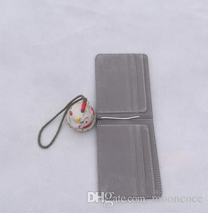 Ultradünnes Slim Lederkurz Bifold Wallet dünner Karten-Halter-Schlitz-beiläufige Billfold mit Geldbörse PU-Leder-Business Fashion Kleine Wallets