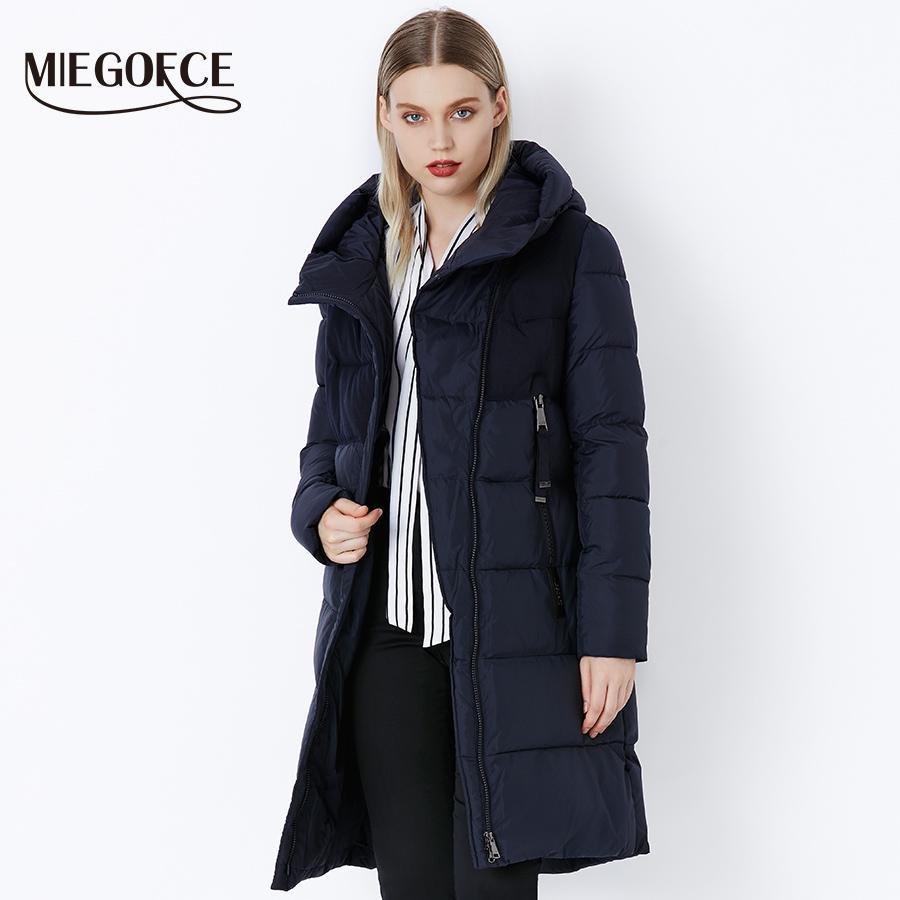 Miegofce 2019 Winter Women 's Jacket Coat 방풍 따뜻한 Women 파카 두껍게 솜 패딩 암 자켓 Brand New Collection Y190828