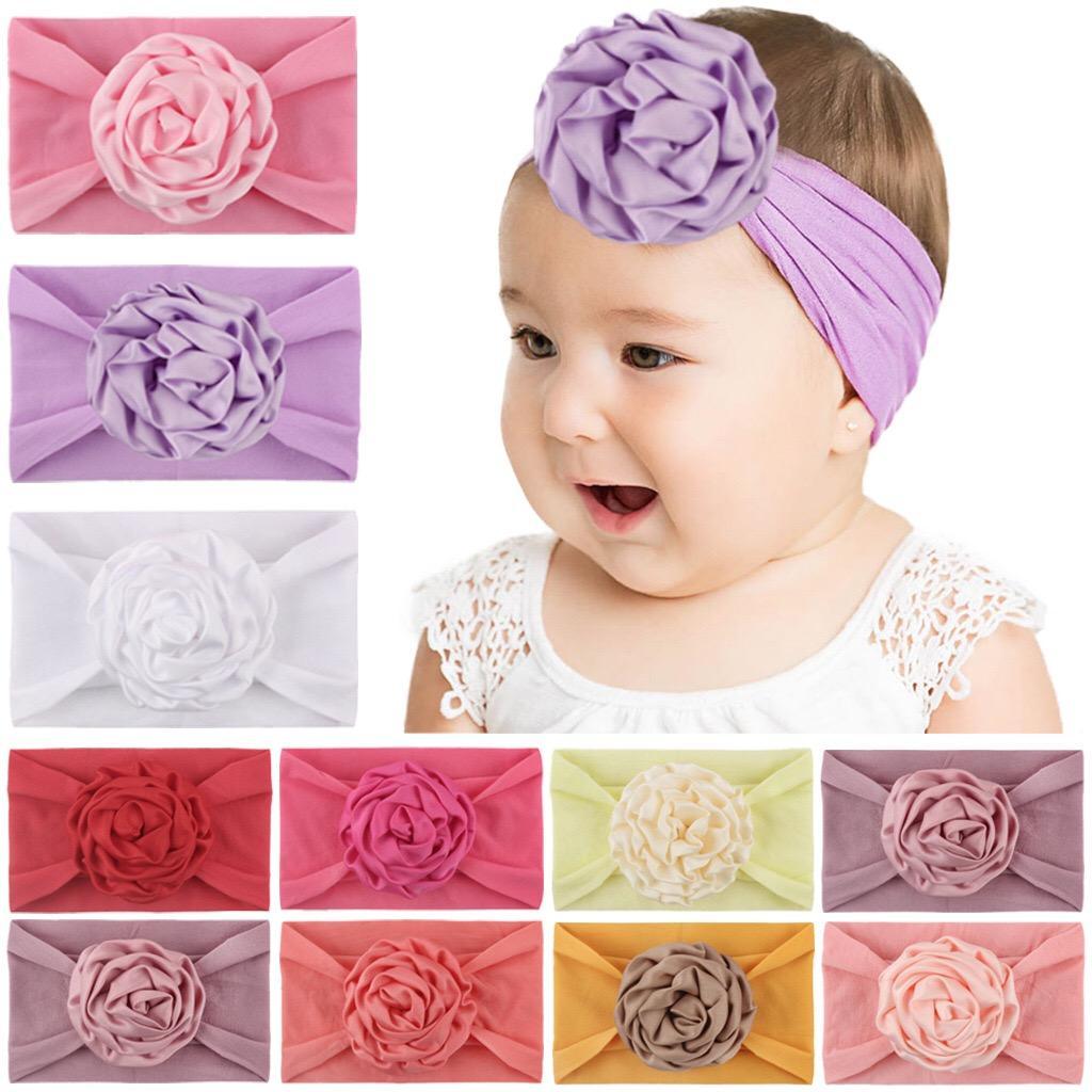 cabelo faixa de bebê nova flor menina quente cabeça nylon Bebê bonito cocar crianças bebê ampla headwear elásticos de cabelo acessórios no atacado
