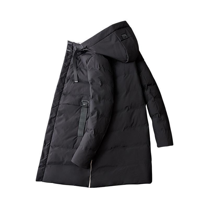 Pop 2019 Casual Hooded Long Parkas Men Winter Jacket Decent Solid Thicken Coat Mens Winter Parkas Mens Warm Overcoat High Quality