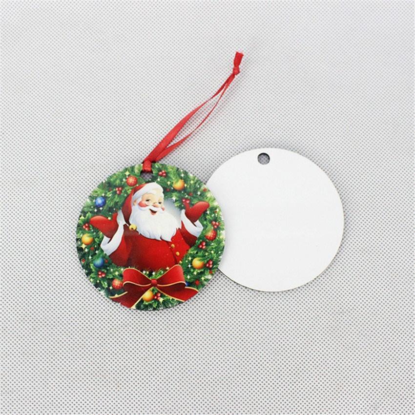 التسامي قلادة عيد الميلاد خشبي نقل الحرارة الطباعة MDF عيد الميلاد الحلي قلادة زينة لDIY عاشق A03