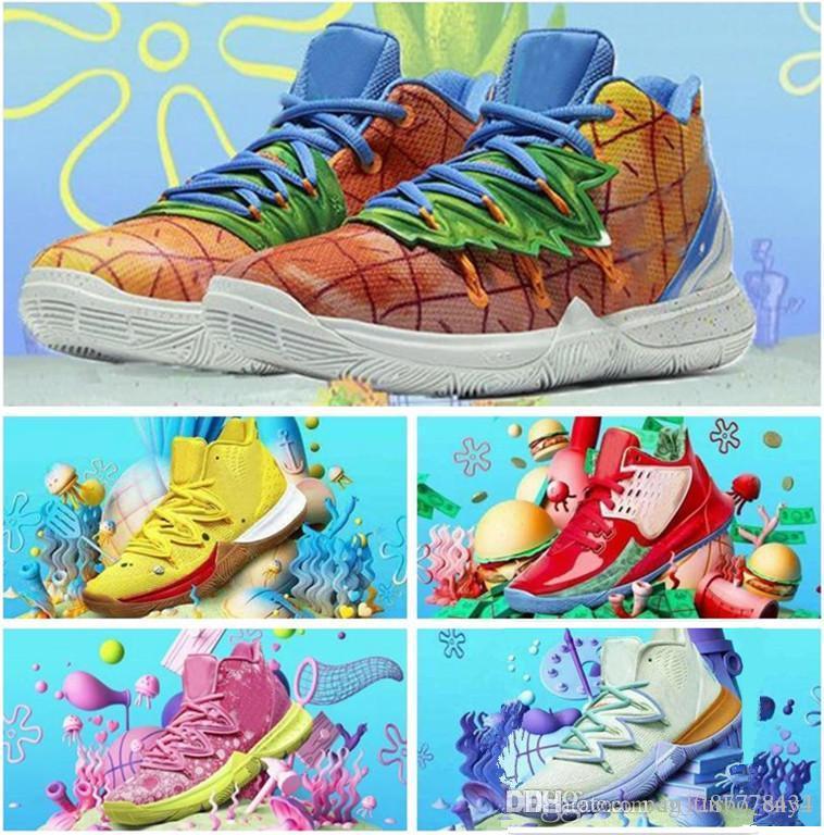 Yeni Erkek Kyrie Ayakkabı TV PE Basketbol Ayakkabıları 5 20. Yıldönümü Sünger X Irving 5 S V Beş Lüks Eğitmen Spor Sneakers 40-46