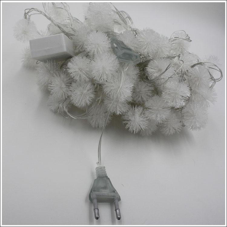 10M 60/100 boule de neige LED décoration LED fête de mariage de fête de Noël Guirlandes de fées de bande de LED