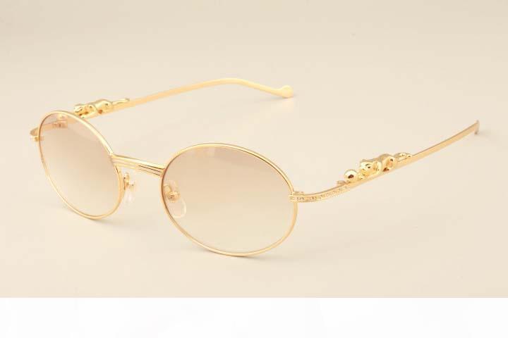 2019 ligeiros novos quadrados leopardo diamante templos ultra-ouro óculos 6384084 modelos de moda óculos de sol dos homens, pára-sol