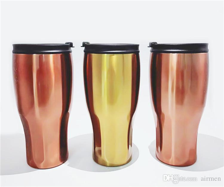 New 900ml Double Wall Vacuum Stainless Steel 30oz Vacuum Insulated Cooler Travel Mug Car Tumbler With Lid DHL FEDEX