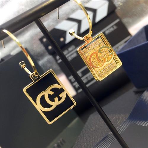 Best2020 H215 de lettre belle de la mode CG de l'aiguille d'argent de boucles d'oreilles personnalité de la mode japonaise et coréenne des anti-allergie d-hiver