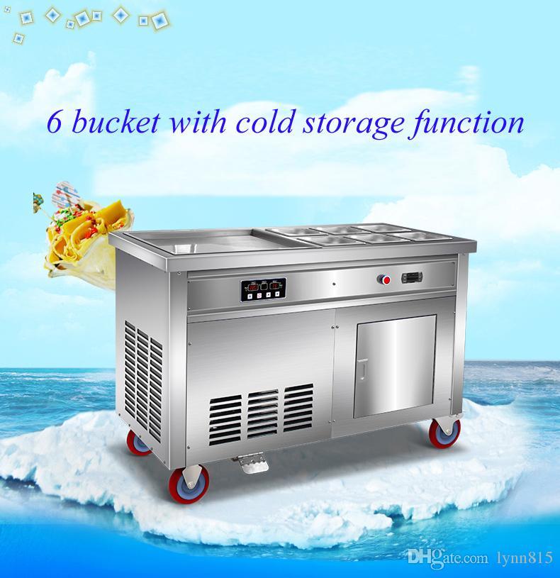 Stainless Steel Fried Ice Cream Máquina Fried Ice Cream Maker Ice Cream Roll Machine Laminados Yogurt Maker
